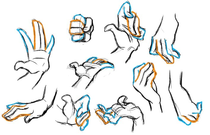 Body gestures drawing